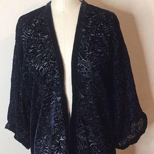 Zara Other - Zara Basic Velvet Printed Open Kimono M